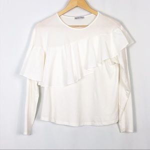 Zara | Long Sleeve Ruffle Top
